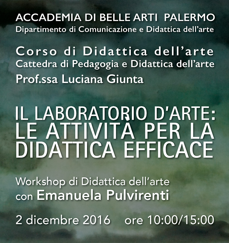 workshop - Palermo 02/11/16
