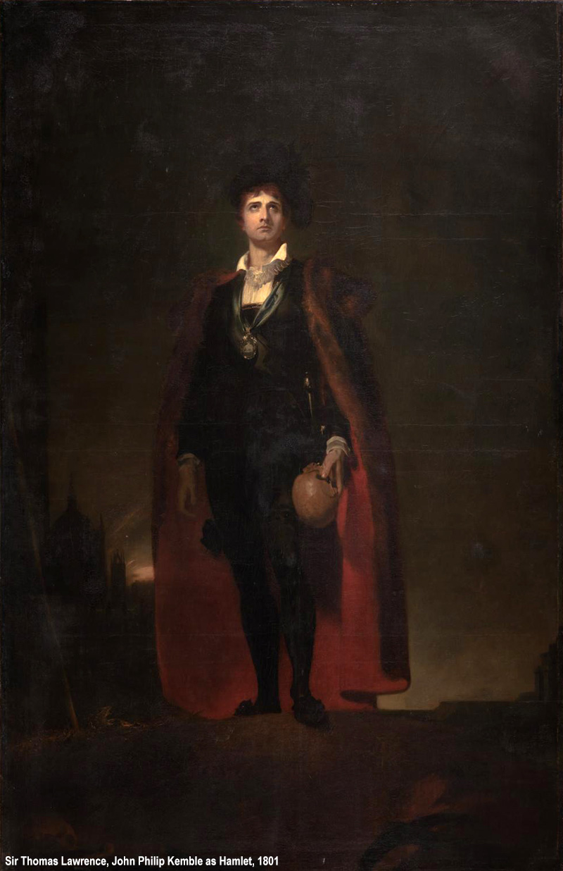 John Philip Kemble as Hamlet 1801 by Sir Thomas Lawrence 1769-1830
